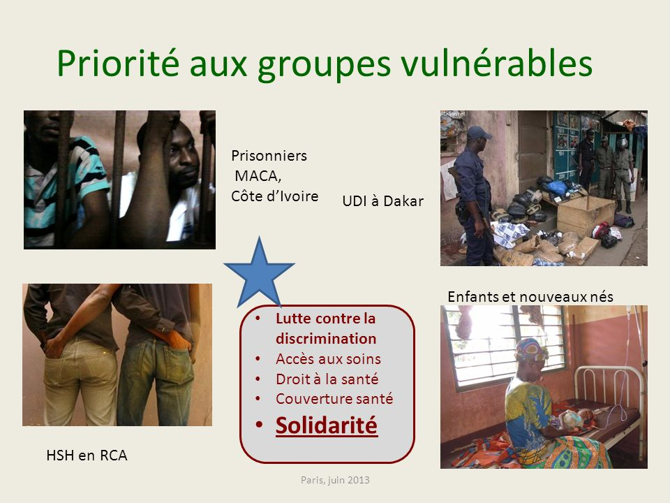 Priorité aux groupes vulnérables