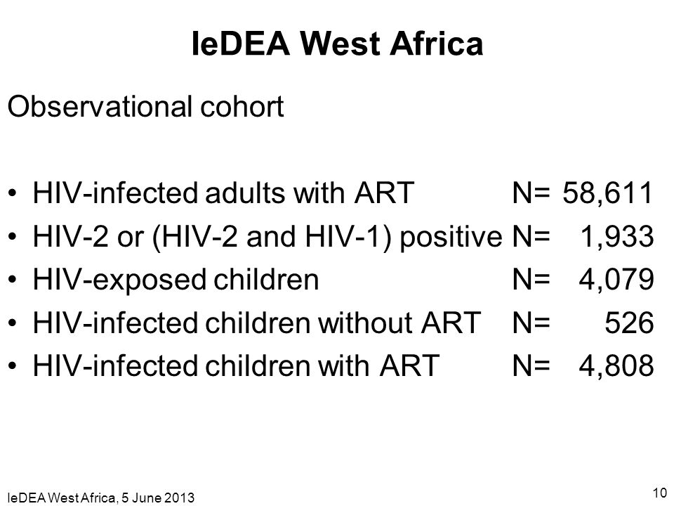 IeDEA West Africa Observational cohort