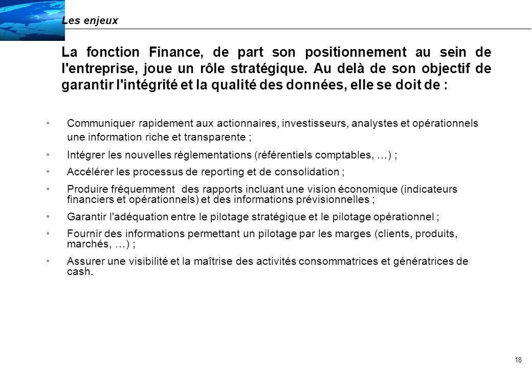 Les défis de la fonction Finance