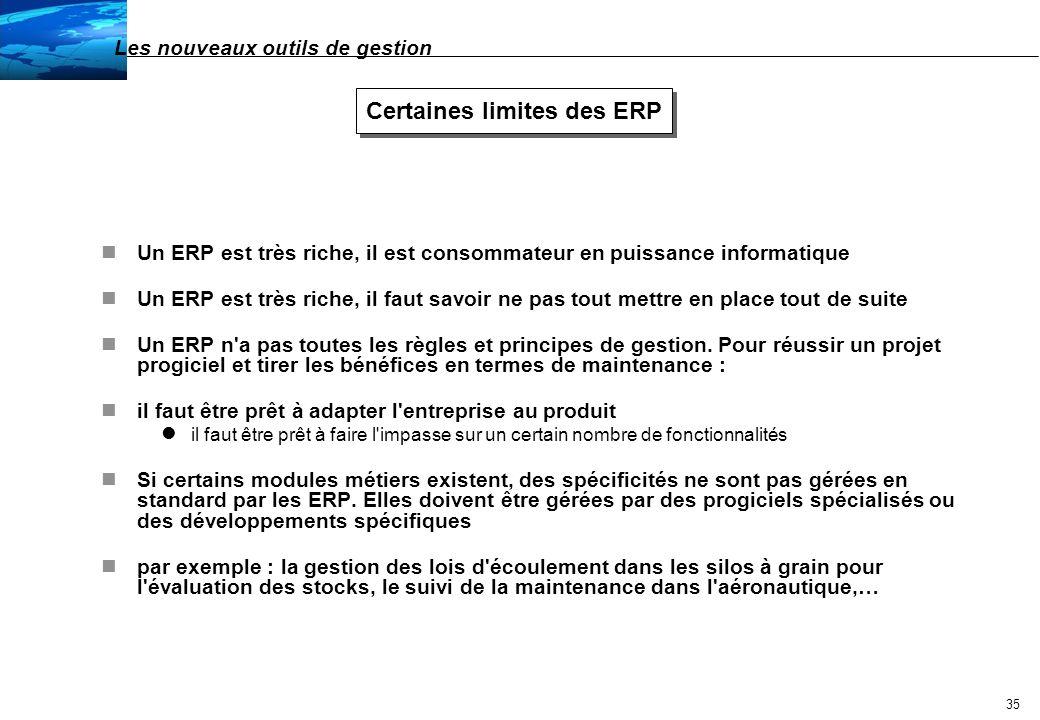 Certaines limites des ERP