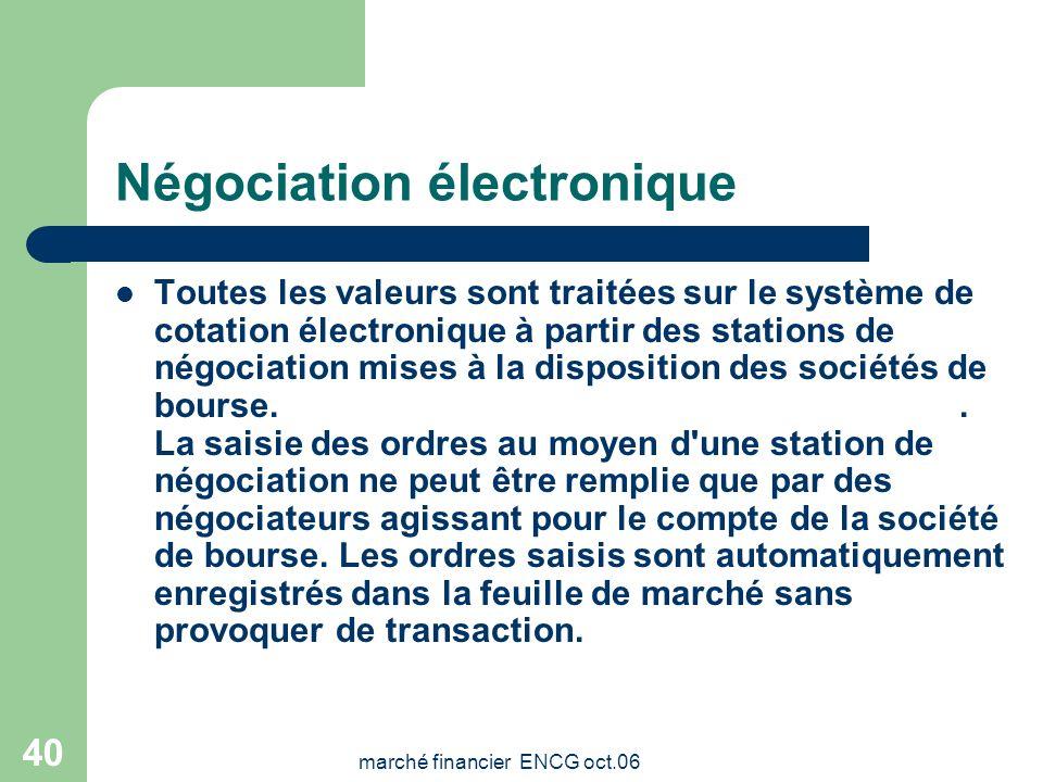 Négociation électronique