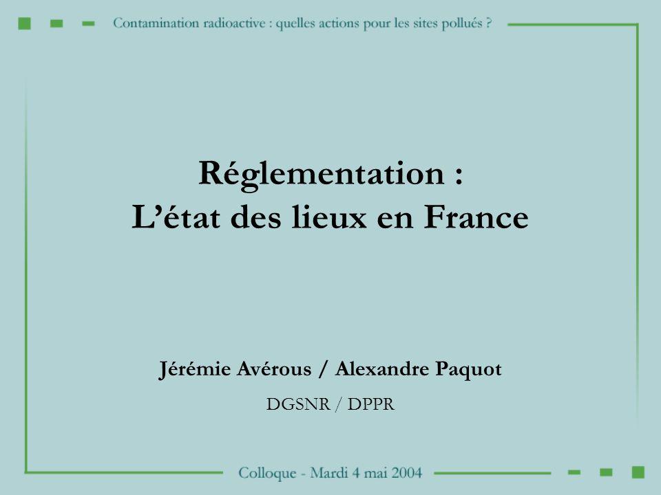 L'état des lieux en France