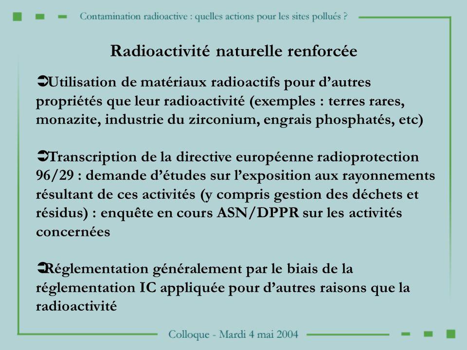 Radioactivité naturelle renforcée