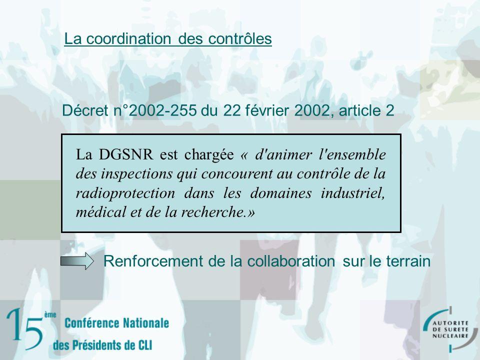 La coordination des contrôles