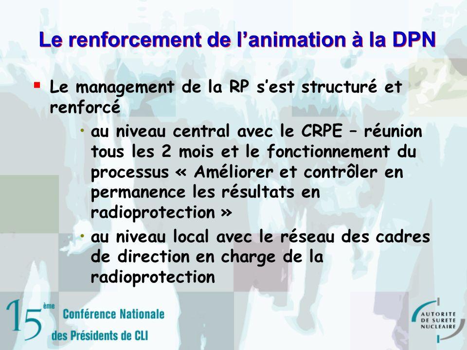 Le renforcement de l'animation à la DPN