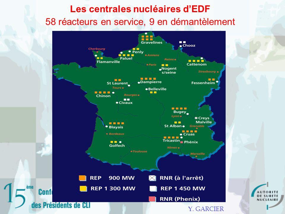 Les centrales nucléaires d'EDF