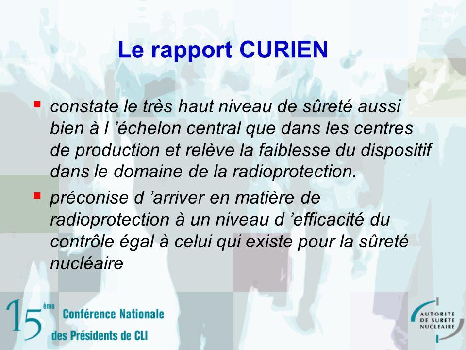 Le rapport CURIEN