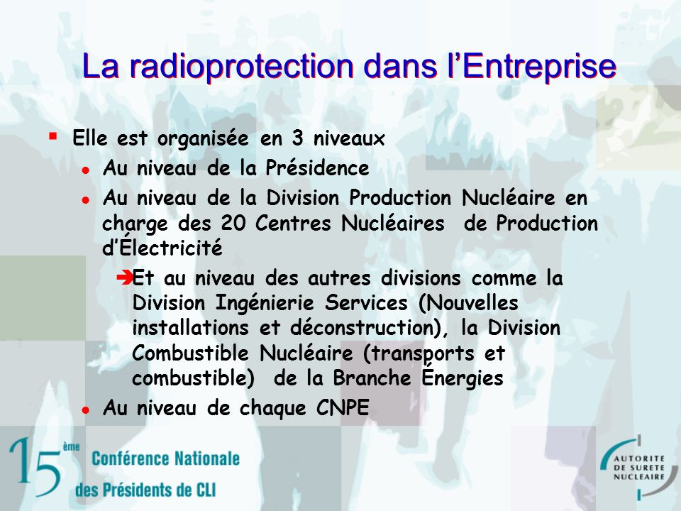 La radioprotection dans l'Entreprise