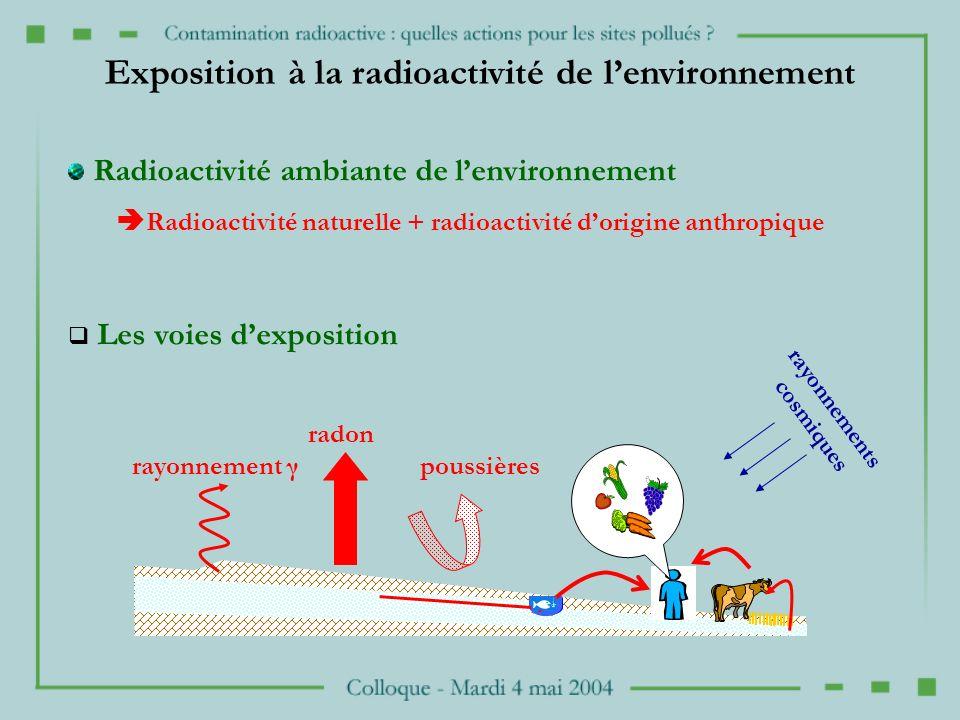 Exposition à la radioactivité de l'environnement
