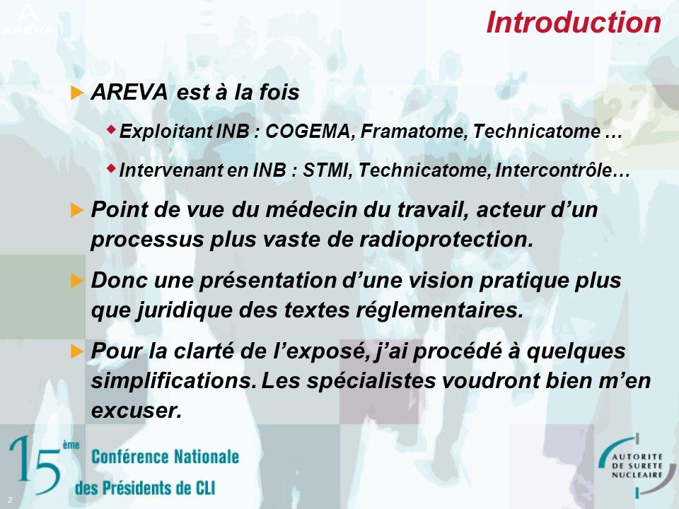 Introduction AREVA est à la fois