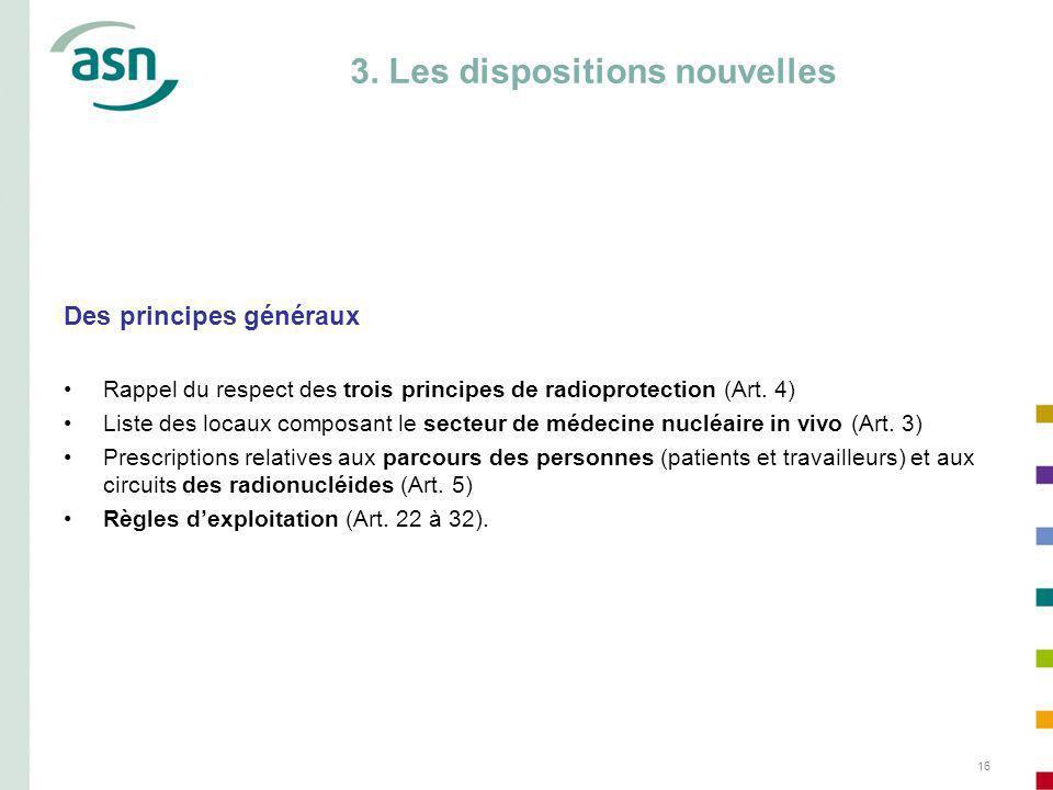 3. Les dispositions nouvelles