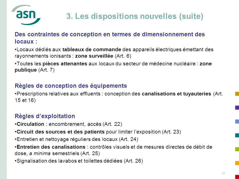 3. Les dispositions nouvelles (suite)