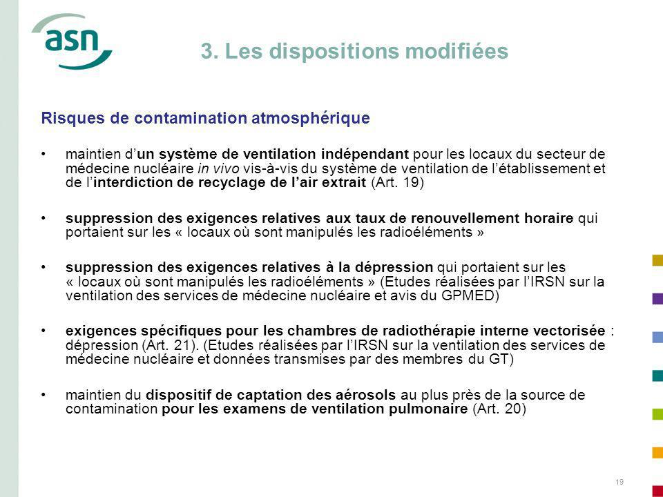 3. Les dispositions modifiées