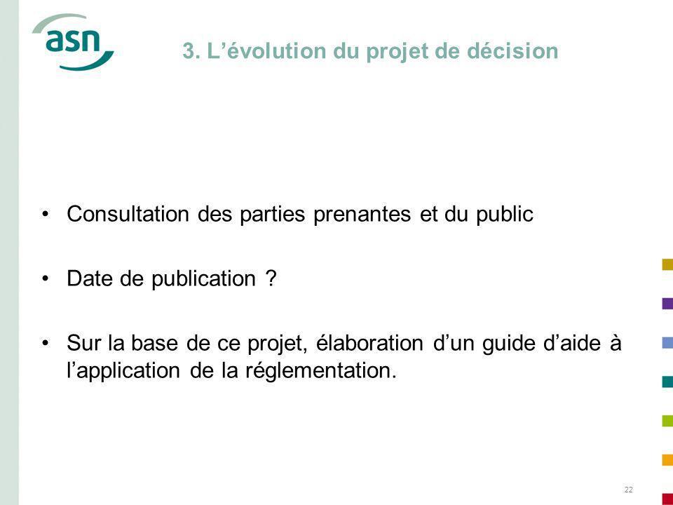 3. L'évolution du projet de décision