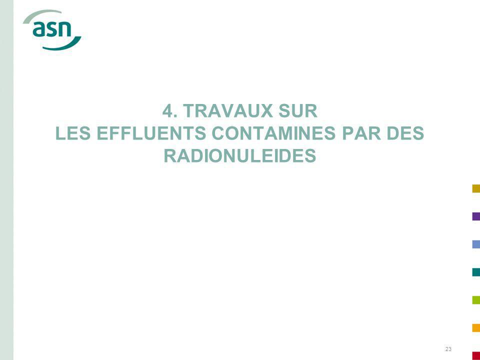 4. TRAVAUX SUR LES EFFLUENTS CONTAMINES PAR DES RADIONULEIDES