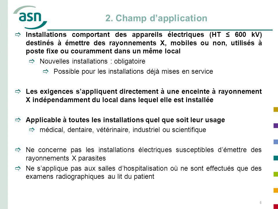 2. Champ d'application