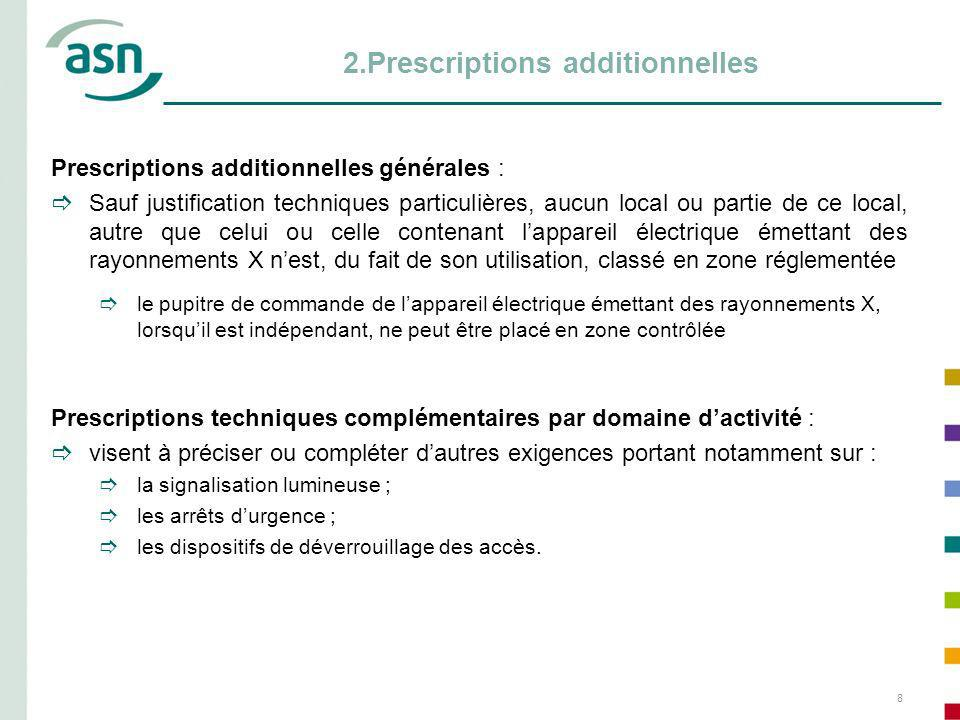 2.Prescriptions additionnelles