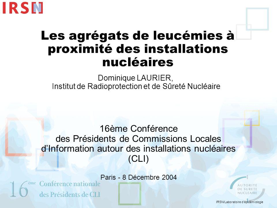 Les agrégats de leucémies à proximité des installations nucléaires