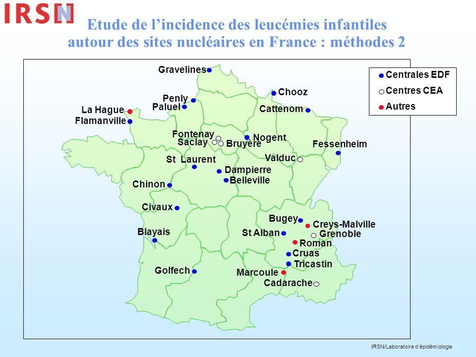 Etude de l'incidence des leucémies infantiles autour des sites nucléaires en France : méthodes 2