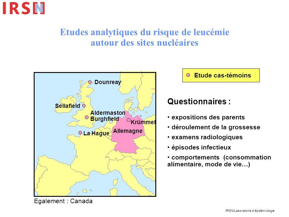 Etudes analytiques du risque de leucémie autour des sites nucléaires