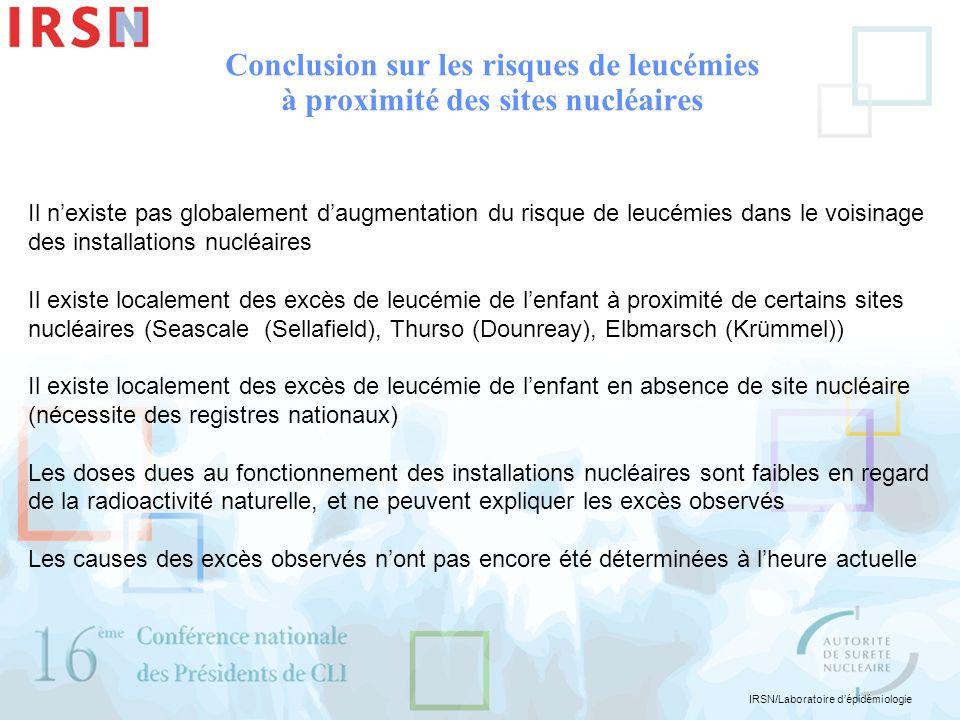 Conclusion sur les risques de leucémies à proximité des sites nucléaires