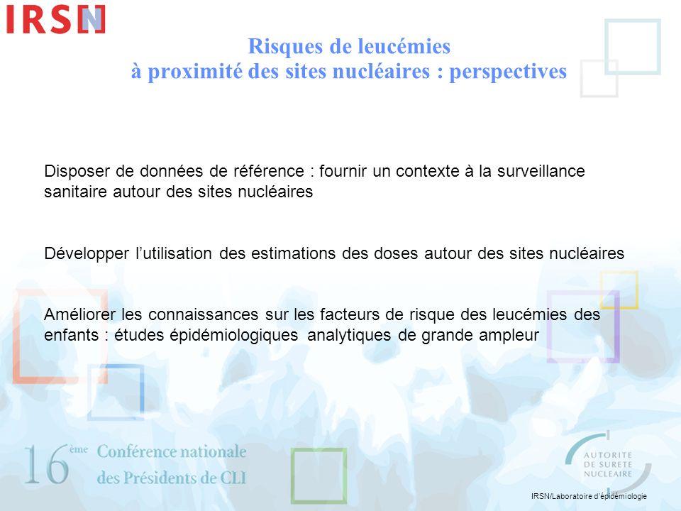 Risques de leucémies à proximité des sites nucléaires : perspectives
