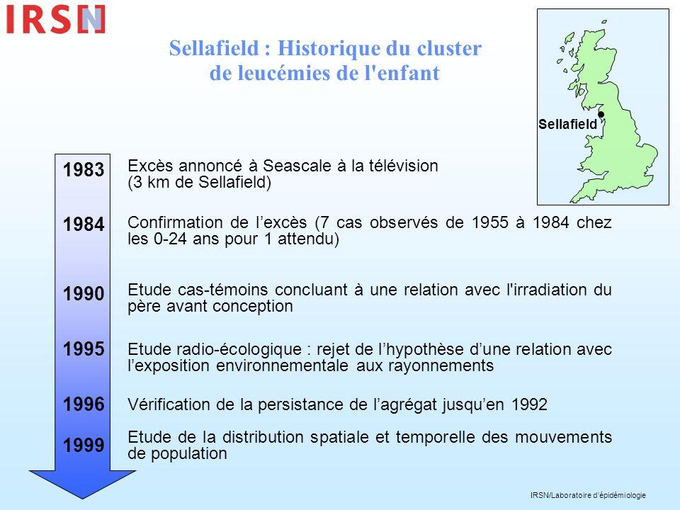 Sellafield : Historique du cluster de leucémies de l enfant