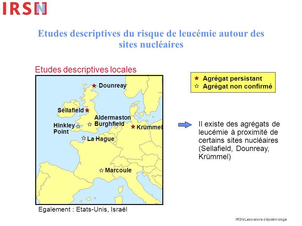 Etudes descriptives du risque de leucémie autour des sites nucléaires