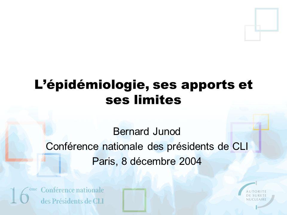 L'épidémiologie, ses apports et ses limites