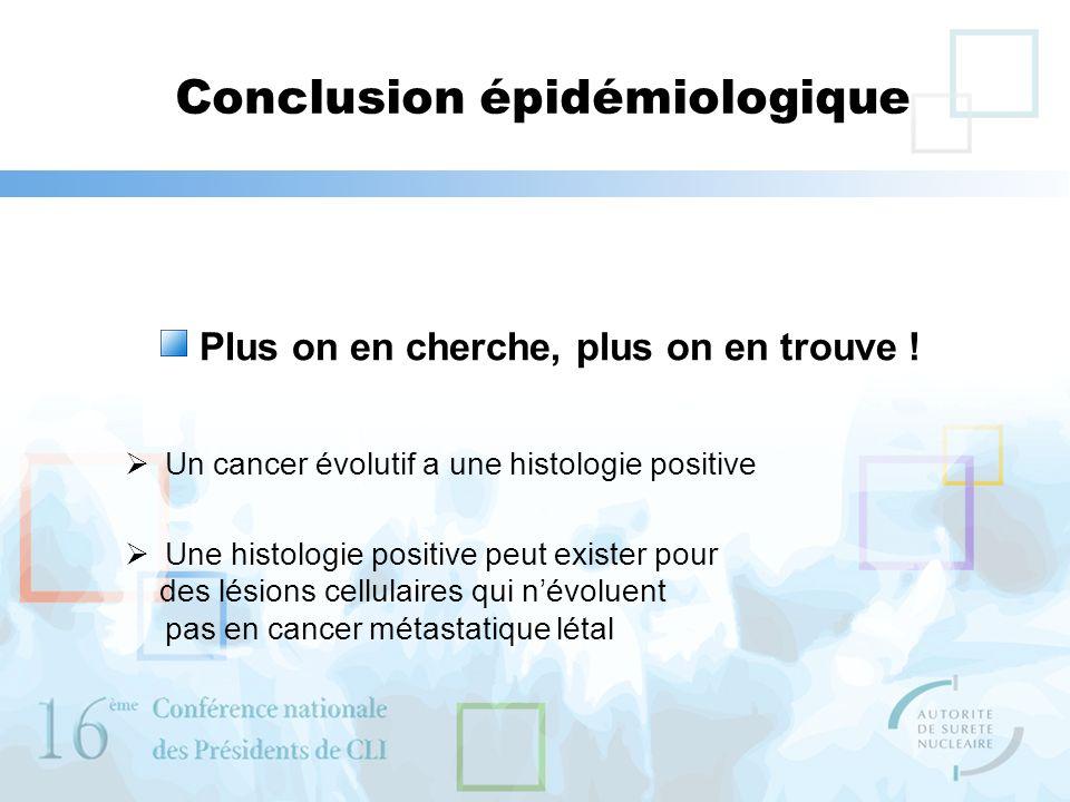 Conclusion épidémiologique