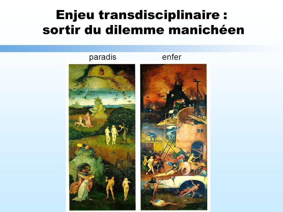 Enjeu transdisciplinaire : sortir du dilemme manichéen