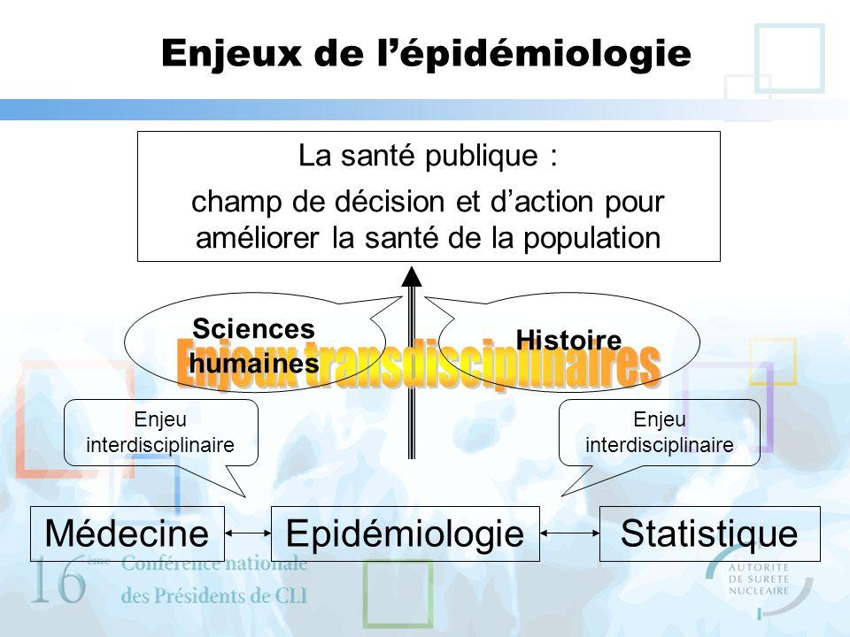 Enjeux de l'épidémiologie
