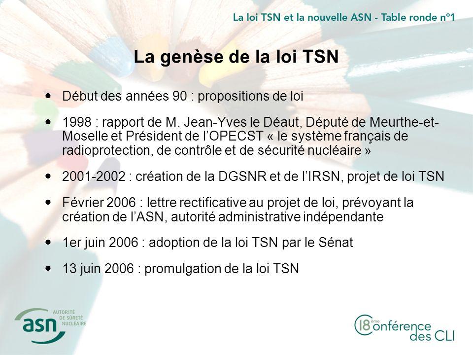 La genèse de la loi TSN Début des années 90 : propositions de loi
