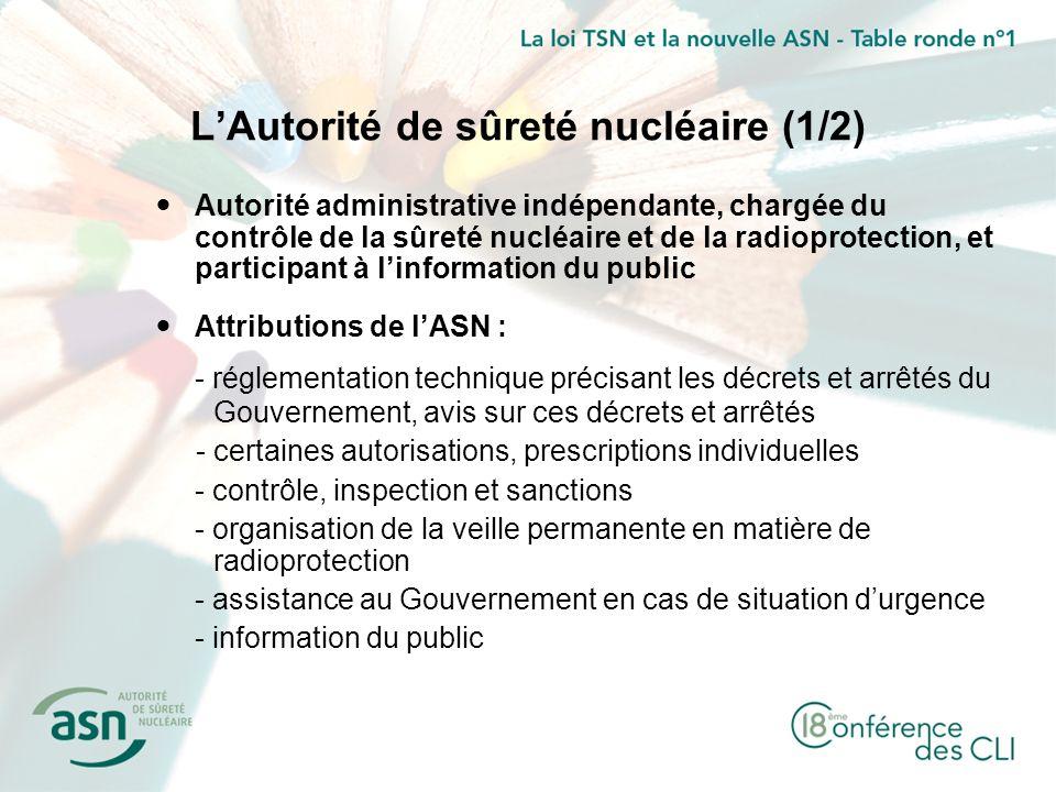 L'Autorité de sûreté nucléaire (1/2)