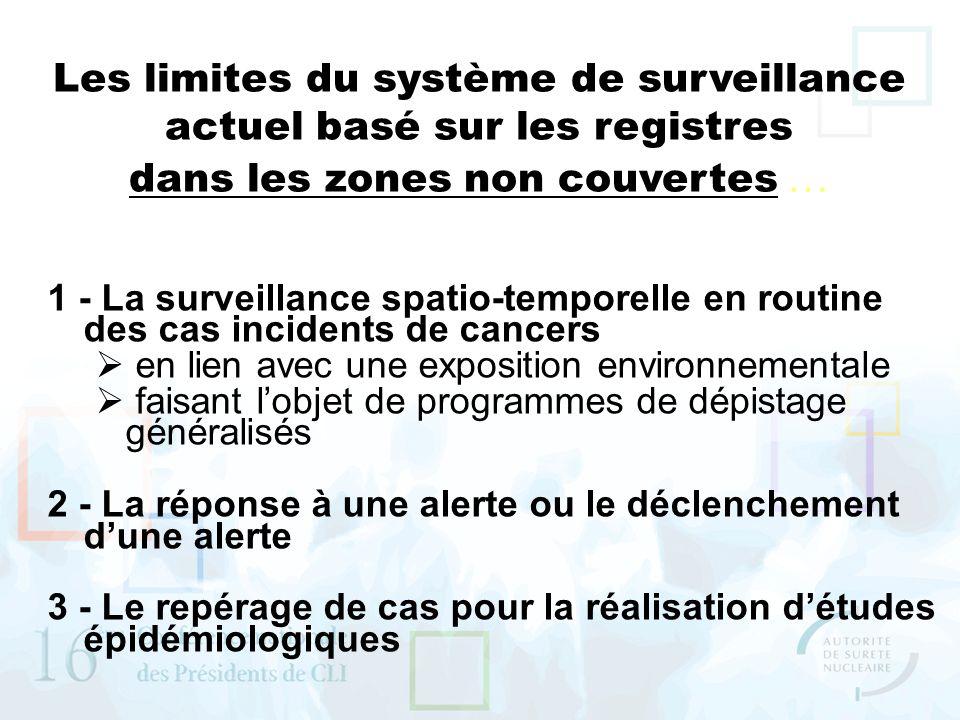 Les limites du système de surveillance actuel basé sur les registres dans les zones non couvertes …