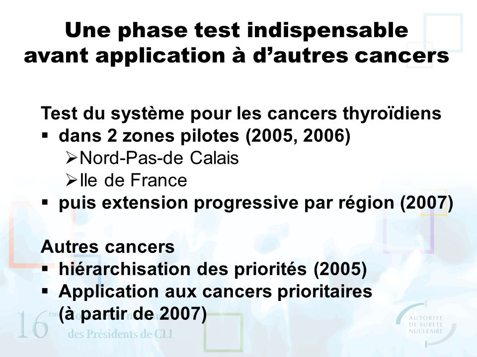 Une phase test indispensable avant application à d'autres cancers