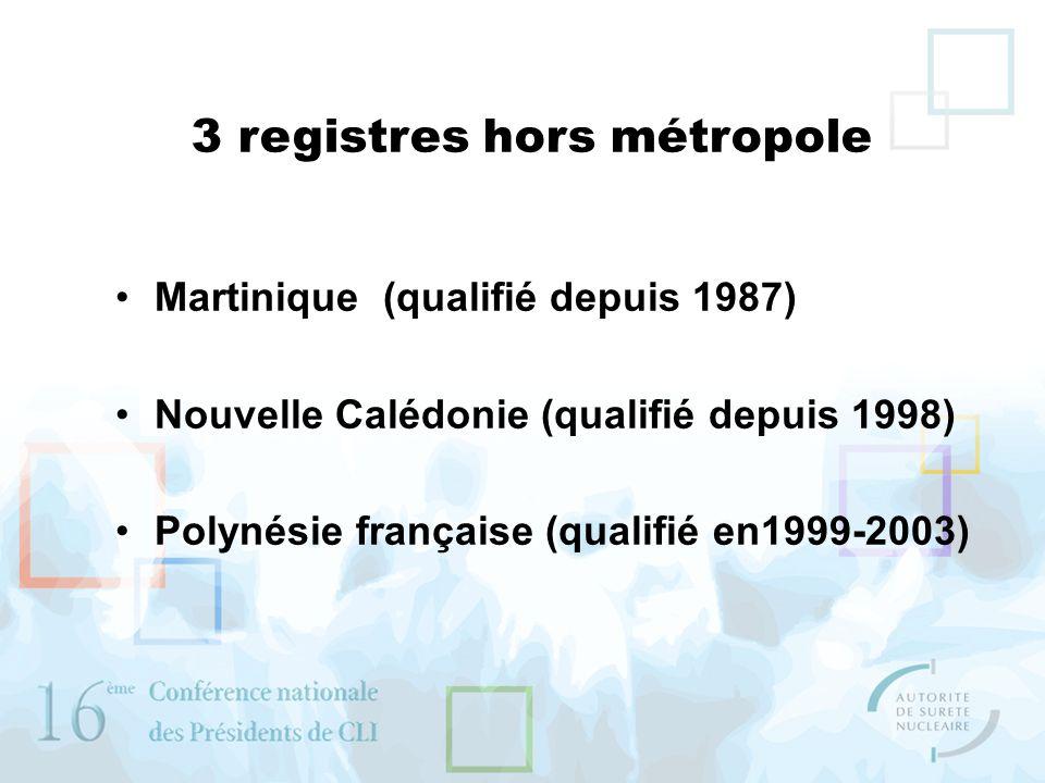 3 registres hors métropole