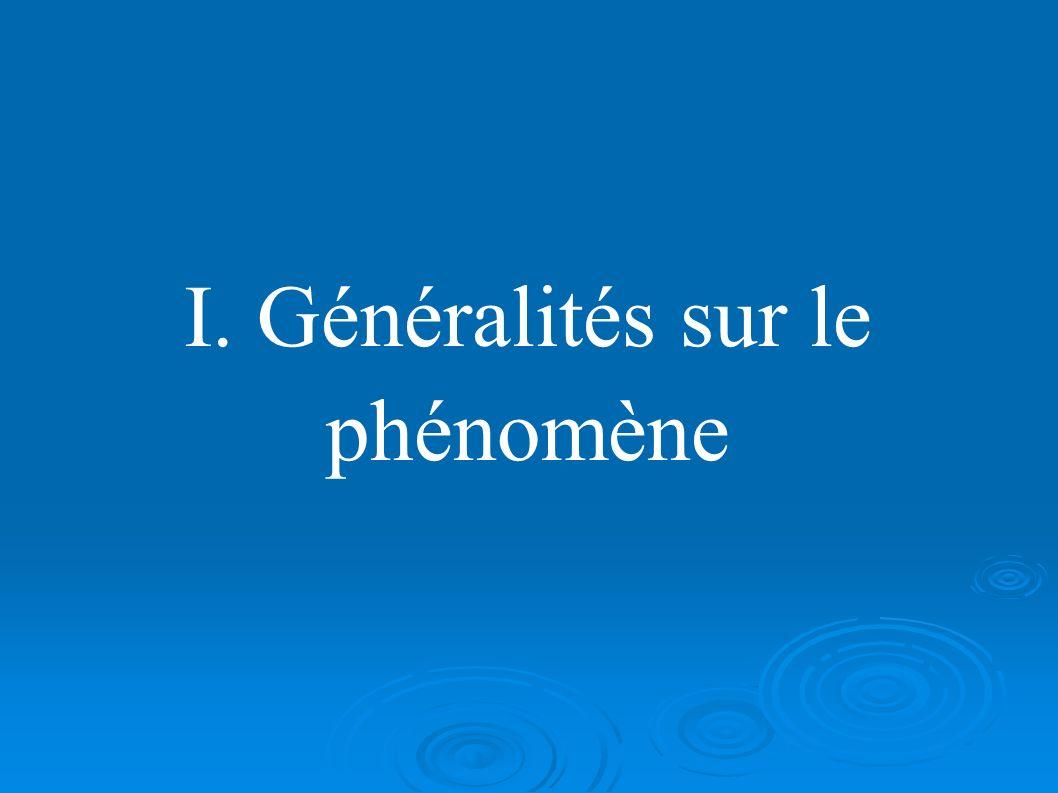 I. Généralités sur le phénomène
