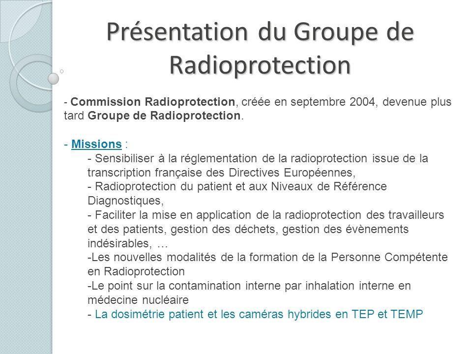 Présentation du Groupe de Radioprotection