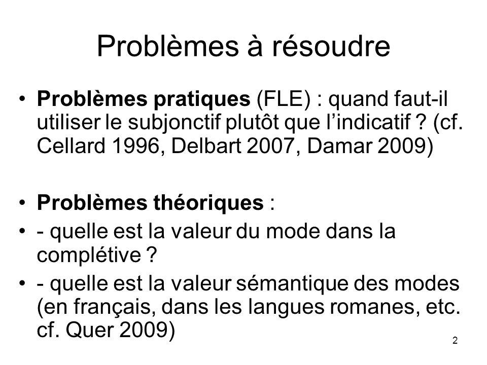 Problèmes à résoudre