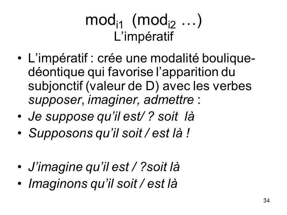 modi1 (modi2 …) L'impératif