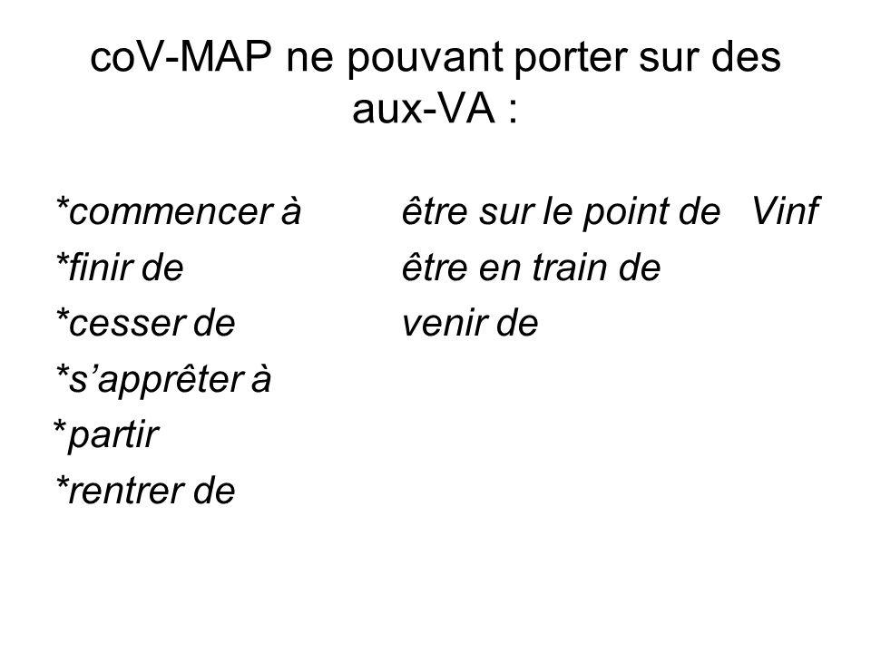 coV-MAP ne pouvant porter sur des aux-VA :