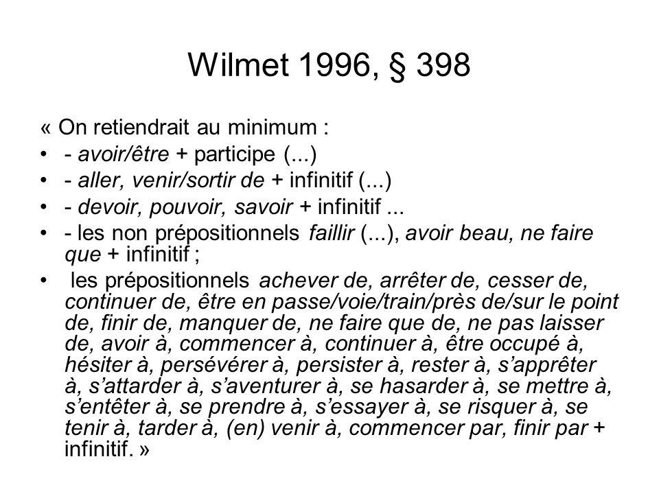 Wilmet 1996, § 398 « On retiendrait au minimum :