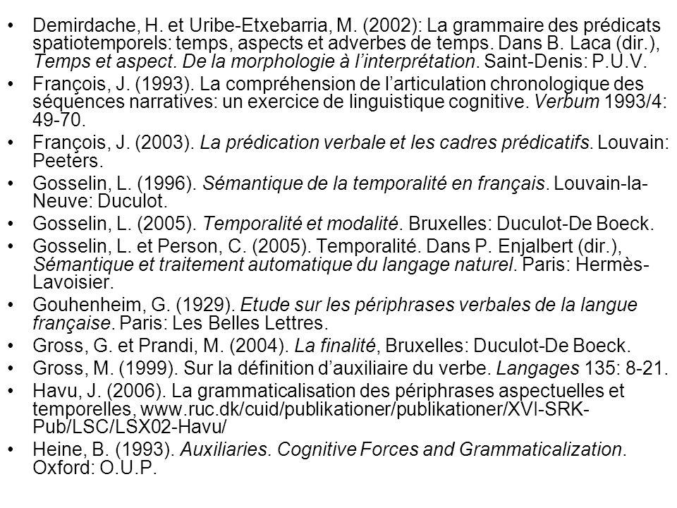 Demirdache, H. et Uribe-Etxebarria, M