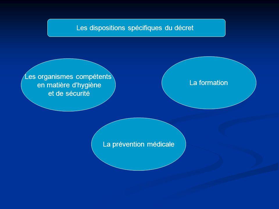 Les dispositions spécifiques du décret