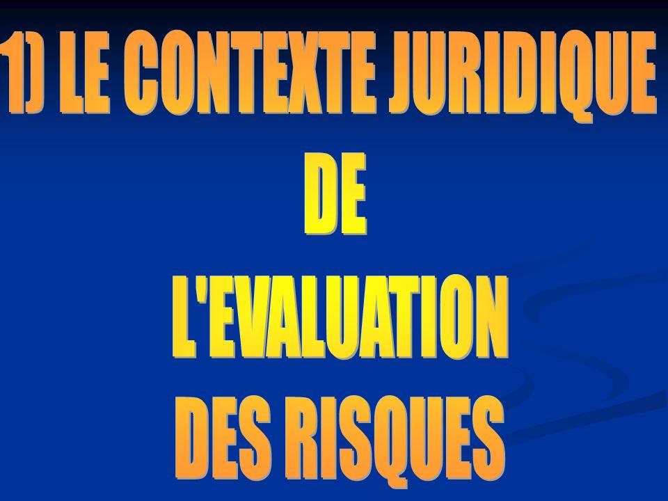 1) LE CONTEXTE JURIDIQUE