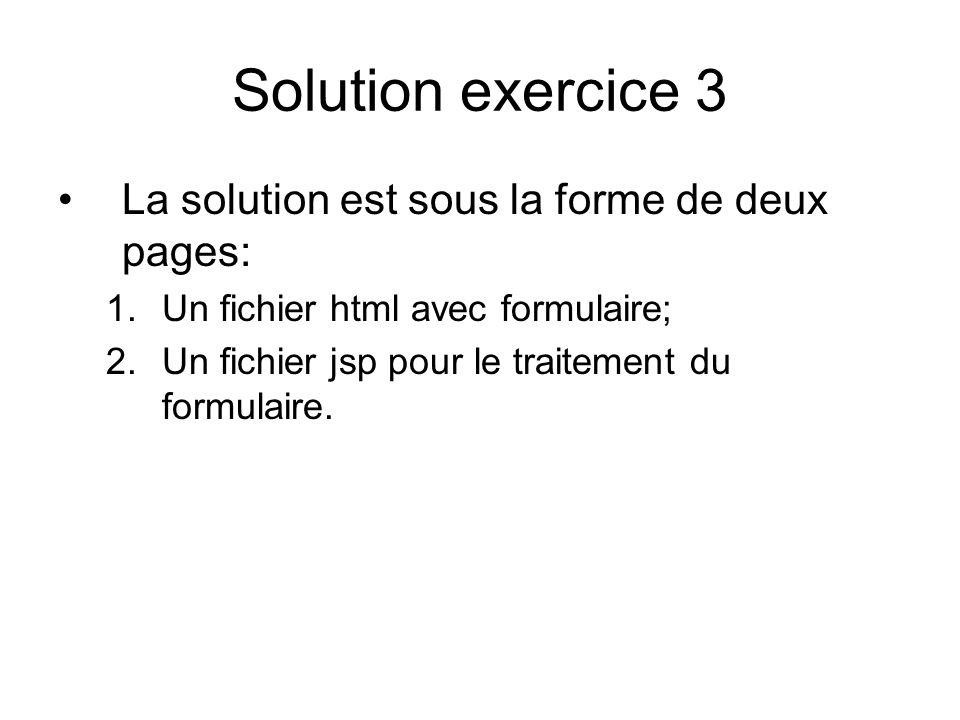 Solution exercice 3 La solution est sous la forme de deux pages: