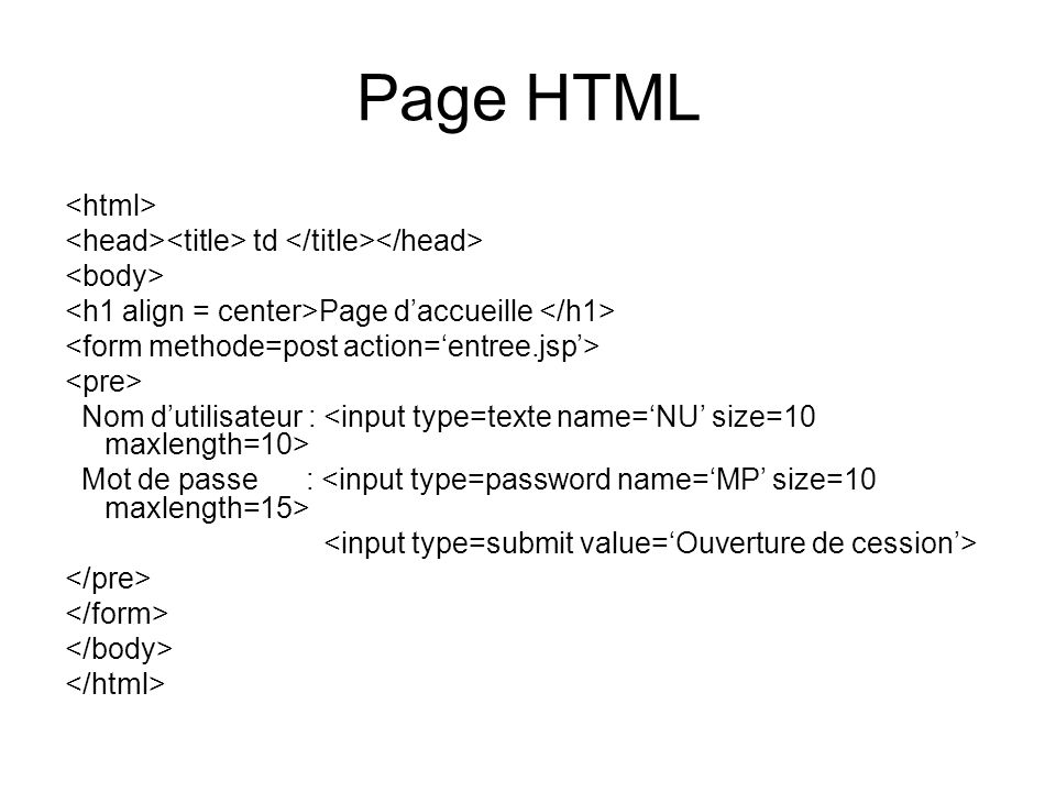 Page HTML <html>