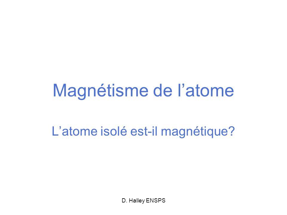 L'atome isolé est-il magnétique