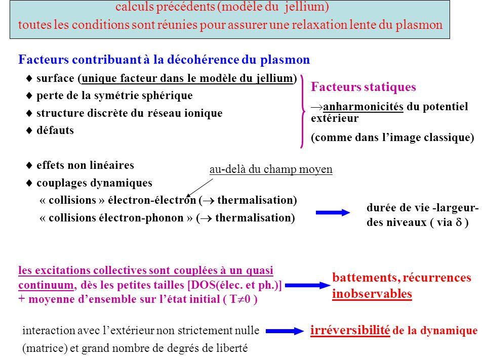 calculs précédents (modèle du jellium)